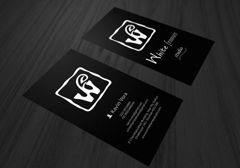 White Frames Studio Business Card Image